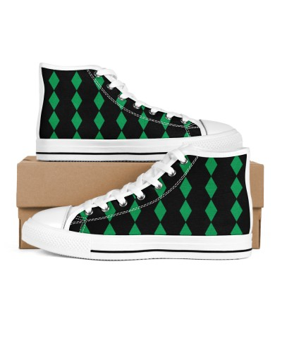 mens diamond pattern high tops