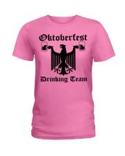 Vintage Oktoberfest Drinking Team Women Ladies T-Shirt thumbnail
