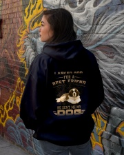 BEST FRIEND ST BERNARD Hooded Sweatshirt lifestyle-unisex-hoodie-back-1