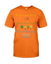 Help More Bees Plant More Trees Clean Th Classic T-Shirt tile