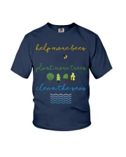 Help More Bees Plant More Trees Clean Th Youth T-Shirt thumbnail