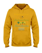 Help More Bees Plant More Trees Clean Th Hooded Sweatshirt thumbnail