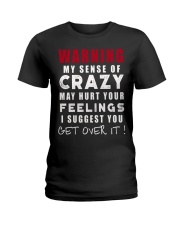 WARNING CRAZY GIRL FUNNY SHIRT Ladies T-Shirt front
