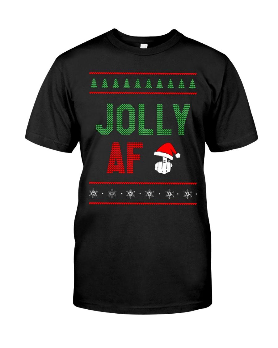 Jolly AF as Christmas Gift - Joke T Shirt Classic T-Shirt