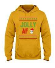 Jolly AF as Christmas Gift - Joke T Shirt Hooded Sweatshirt thumbnail