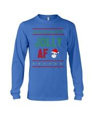 Jolly AF as Christmas Gift - Joke T Shirt Long Sleeve Tee thumbnail