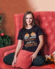 HALLOWEEN  NOVEMBER GUY - FUNNY SHIRT   Ladies T-Shirt lifestyle-holiday-womenscrewneck-front-2
