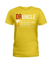 DRUNCLE DEFINITION - FUNNY UNCLE - Christmas gift Ladies T-Shirt thumbnail
