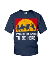 I Pause My Game To Be Here Gamer Shirt Youth T-Shirt thumbnail