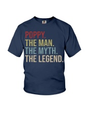 Mens Poppy The Man The Myth The Legend  Youth T-Shirt thumbnail