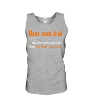 Mens Gun Control Shirt: Gun Control Definition - F Unisex Tank tile