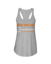 Mens Gun Control Shirt: Gun Control Definition - F Ladies Flowy Tank thumbnail