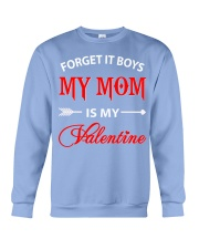 Single Gifts Hug Funny Mom Is My Valenti Crewneck Sweatshirt thumbnail