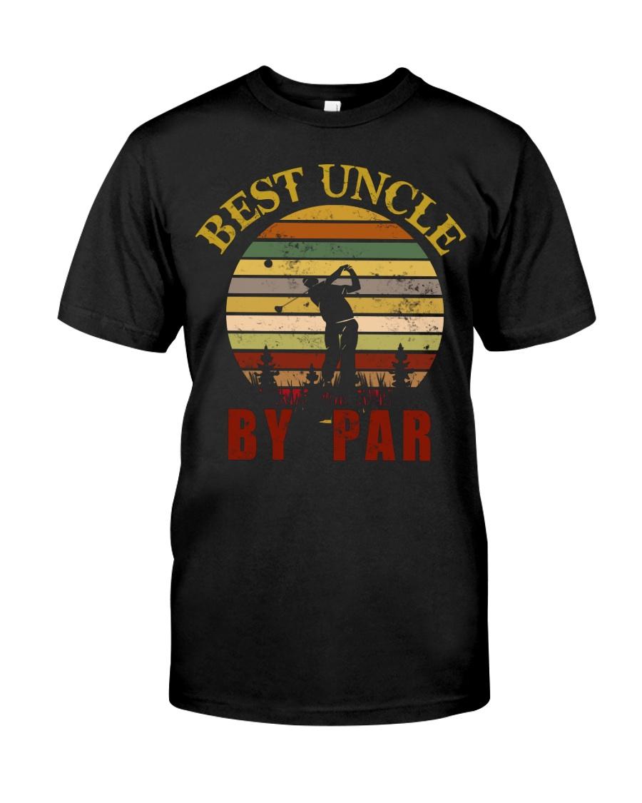 Mens Vintage Best Uncle by Par Funny Golf T-shirt  Classic T-Shirt