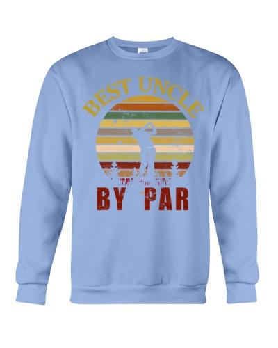 Mens Vintage Best Uncle by Par Funny Golf T-shirt