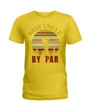Mens Vintage Best Uncle by Par Funny Golf T-shirt  Ladies T-Shirt thumbnail