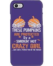 HALLOWEEN CRAZY GIRL TSHIRT - FUNNY TSHIRT Phone Case thumbnail