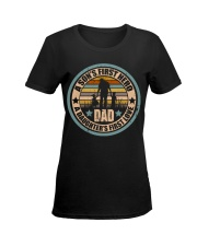 Mens Funny Son And Daughter Father Day Gifts Ladies T-Shirt women-premium-crewneck-shirt-front