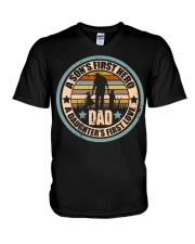 Mens Funny Son And Daughter Father Day Gifts V-Neck T-Shirt thumbnail