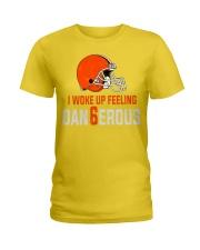 I woke up feeling Dangerous - der6erous Tshirt Ladies T-Shirt thumbnail