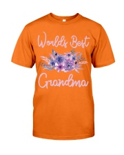 Worlds Best Grandma tshirt Purple Aqua Flower Classic T-Shirt tile