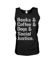 Book Coffee Shirt - FUNNY SHIRT   Unisex Tank thumbnail
