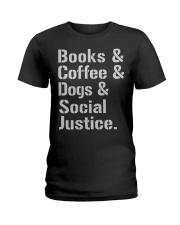 Book Coffee Shirt - FUNNY SHIRT   Ladies T-Shirt thumbnail
