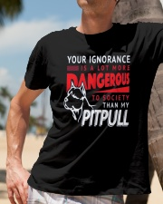 Pitpull Dangerous New release Classic T-Shirt lifestyle-mens-crewneck-front-11