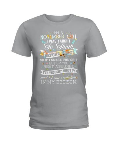 FUNNY shirt -  November -Amazing shirt