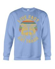 live fast eat trash is tiger shirt campe Crewneck Sweatshirt thumbnail