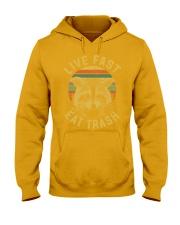 live fast eat trash is tiger shirt campe Hooded Sweatshirt thumbnail