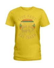 live fast eat trash is tiger shirt campe Ladies T-Shirt thumbnail