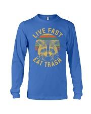 live fast eat trash is tiger shirt campe Long Sleeve Tee thumbnail