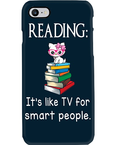 Cat reading book - Tv for smart people