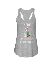 Cat reading book - Tv for smart people Ladies Flowy Tank thumbnail