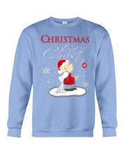 Christmas begins with Christ - Christmas gift Crewneck Sweatshirt thumbnail