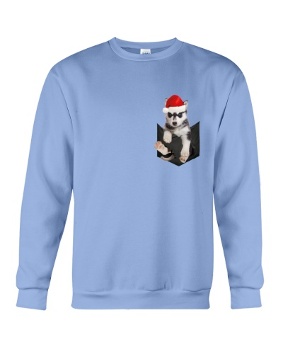 Husky inside Pocket  T Shirt