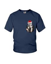 Husky inside Pocket  T Shirt Youth T-Shirt thumbnail