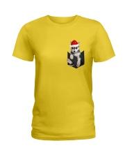 Husky inside Pocket  T Shirt Ladies T-Shirt thumbnail