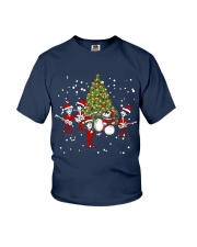 Christmas gift with Drum  Youth T-Shirt thumbnail