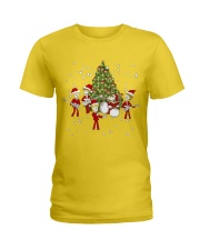 Christmas gift with Drum  Ladies T-Shirt thumbnail