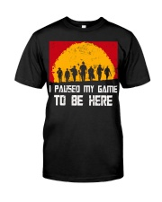 I PAUSE MY GAME TO BE HERE - RED GAMER COMIC Classic T-Shirt front