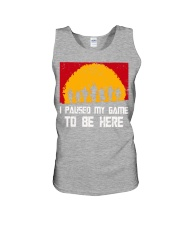 I PAUSE MY GAME TO BE HERE - RED GAMER COMIC Unisex Tank thumbnail