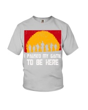 I PAUSE MY GAME TO BE HERE - RED GAMER COMIC Youth T-Shirt thumbnail