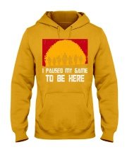 I PAUSE MY GAME TO BE HERE - RED GAMER COMIC Hooded Sweatshirt thumbnail
