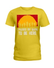 I PAUSE MY GAME TO BE HERE - RED GAMER COMIC Ladies T-Shirt thumbnail