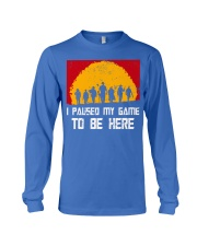 I PAUSE MY GAME TO BE HERE - RED GAMER COMIC Long Sleeve Tee thumbnail