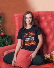 OCTOBER BIRTHDAY  - FUNNY SHIRT   Ladies T-Shirt lifestyle-holiday-womenscrewneck-front-2