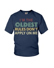 Im The Oldest - I Make The Rules Shirt Brother or  Youth T-Shirt thumbnail