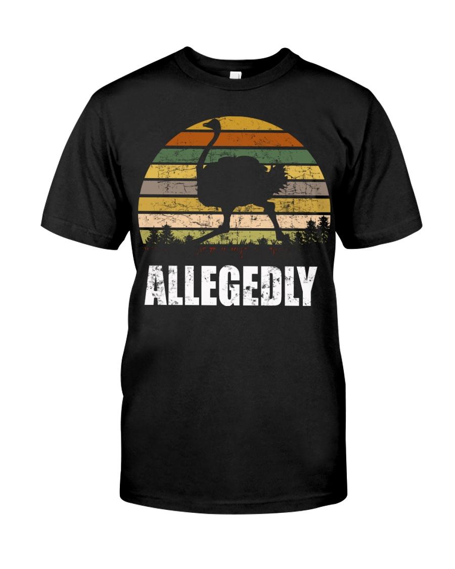 Vintage Retro Allegedly Ostrich T-shirt Classic T-Shirt
